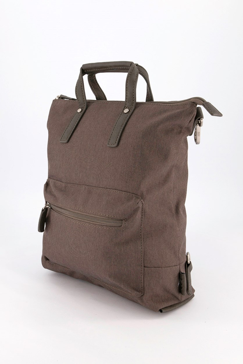 Unisex Top Handle Backpack, Taupe