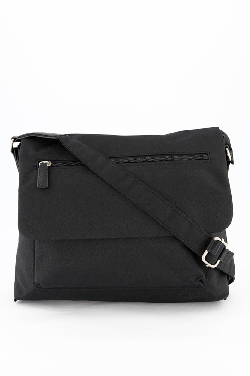 Men Shoulder Bag, Black
