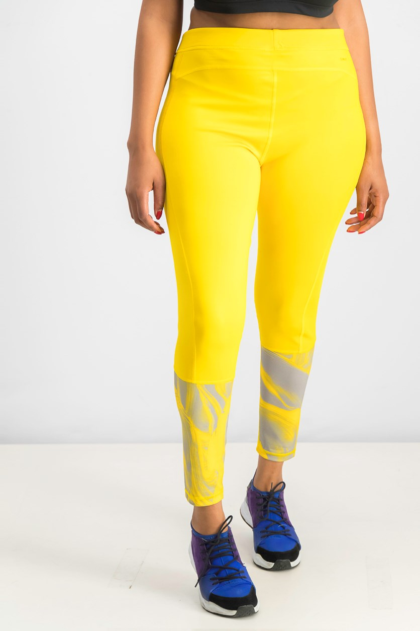 Women's Techfit Long Tights, Dark Yellow