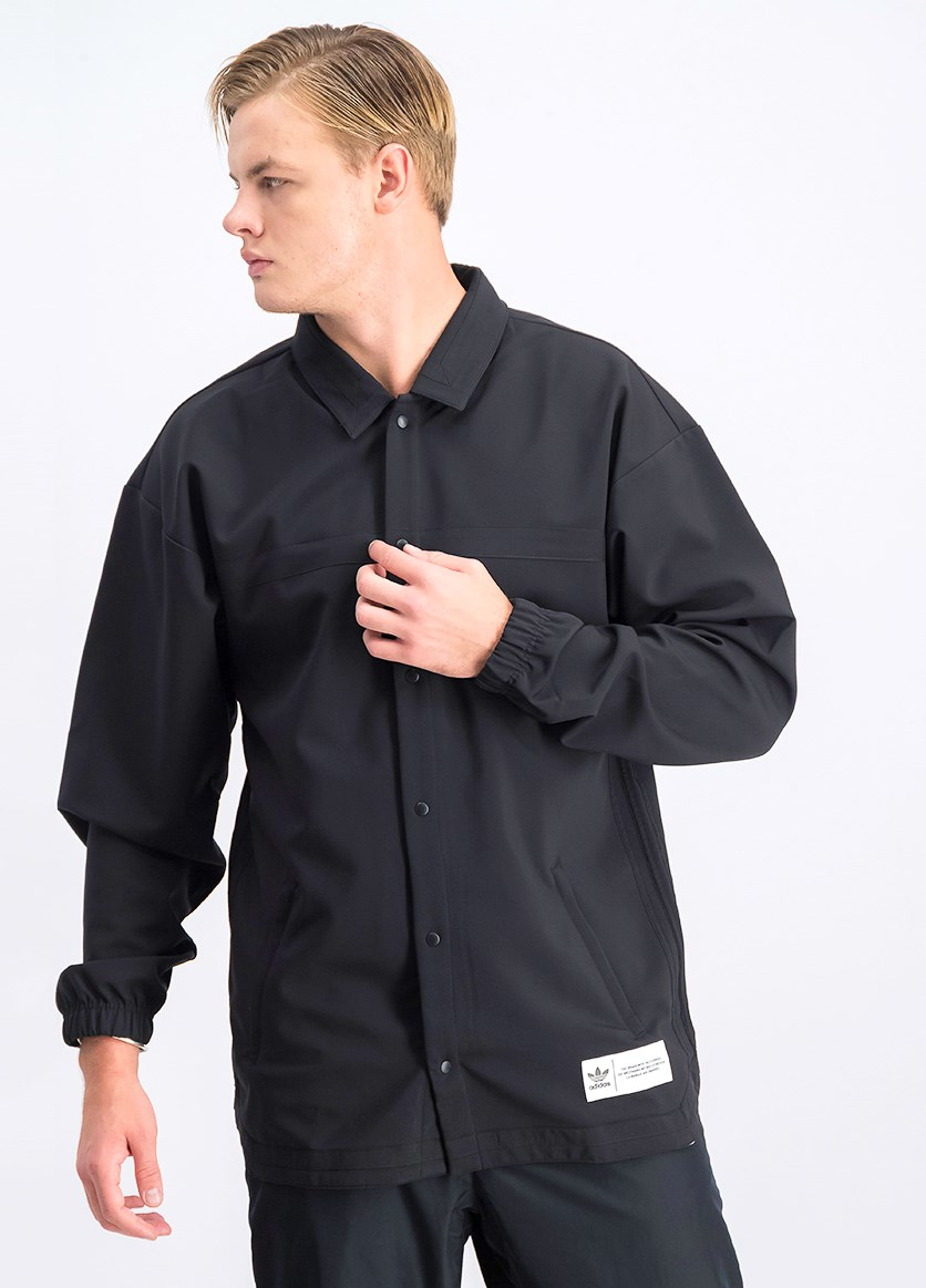 Men's CR8 Coach's Jacket, Black