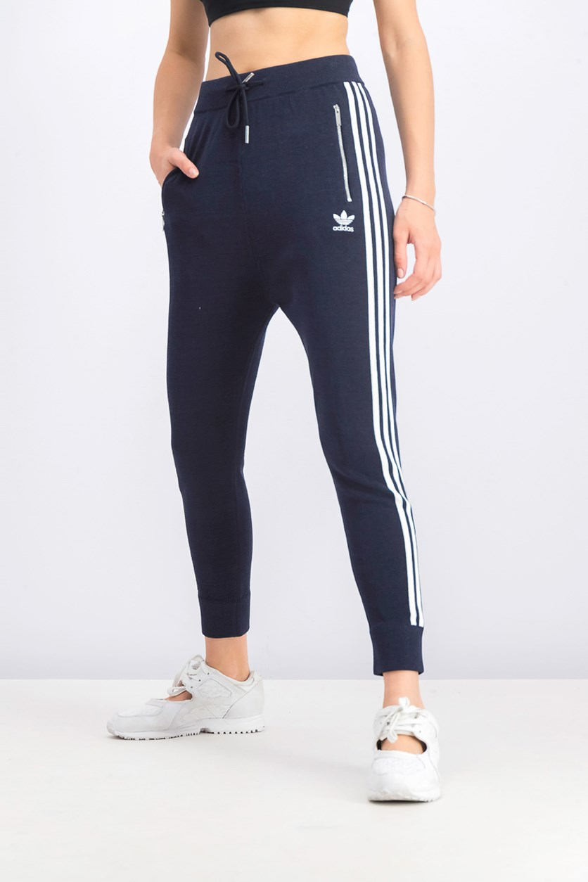 Women's 3 Stripes Low Crotch Pants, Navy