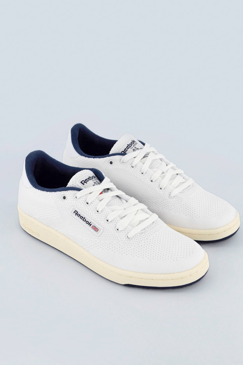 Men's Club Casual Shoes, White/Navy