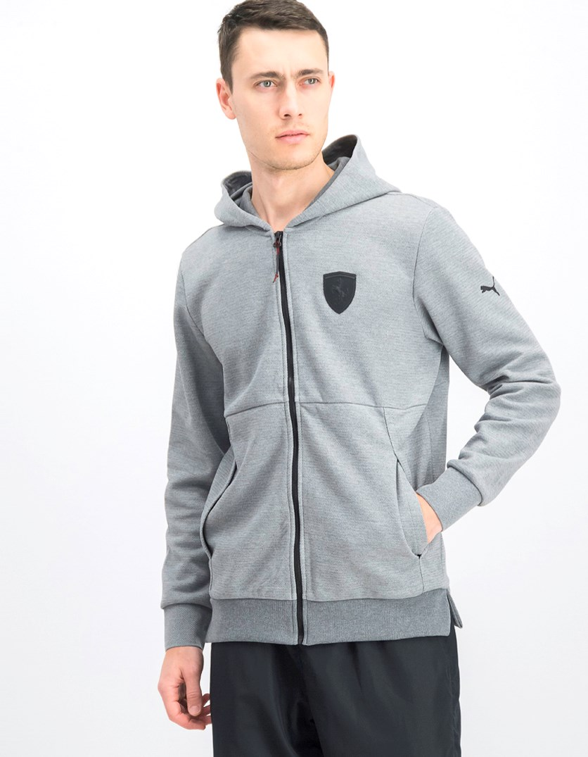 Men's Ferrari Hooded Sweater, Med Grey Heather