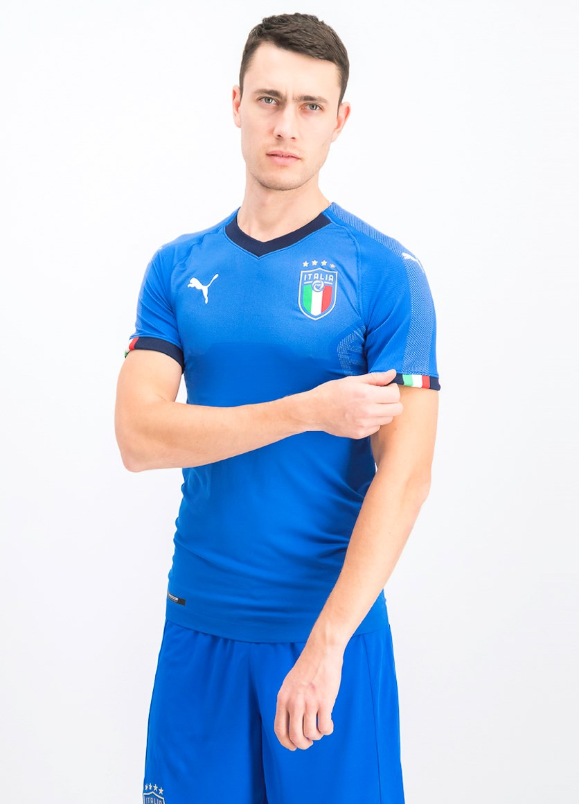 Men's FIGC Home Shirt Authentic T-Shirt, Blue