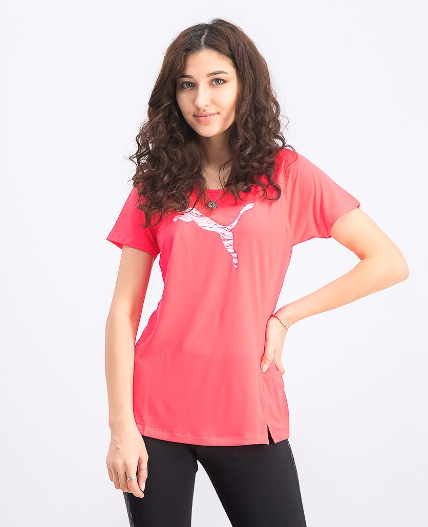 Women's Core Run Short Sleeve Logo Tee, Bright Plasma