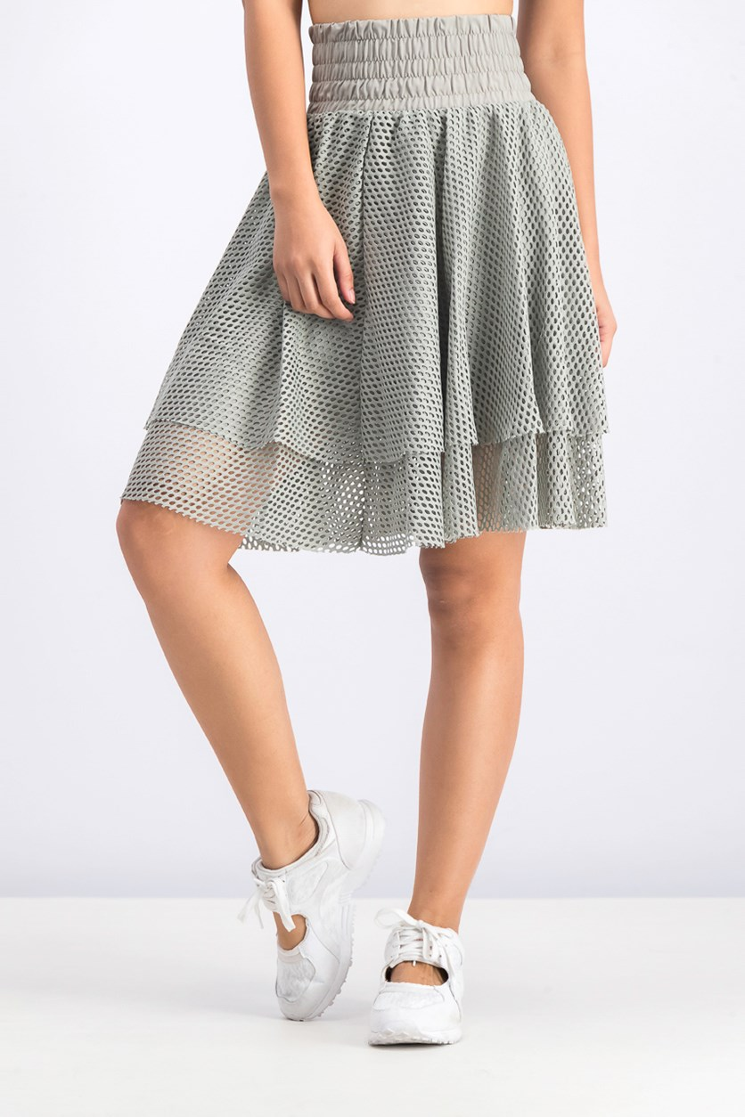 Women's En Pointe Skirt, Grey/mesh