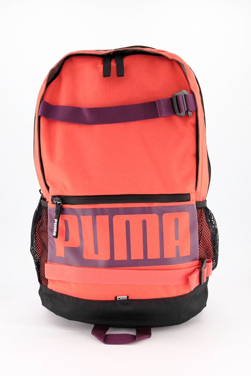 Women's Deck Backpack, Coral/Black Combo