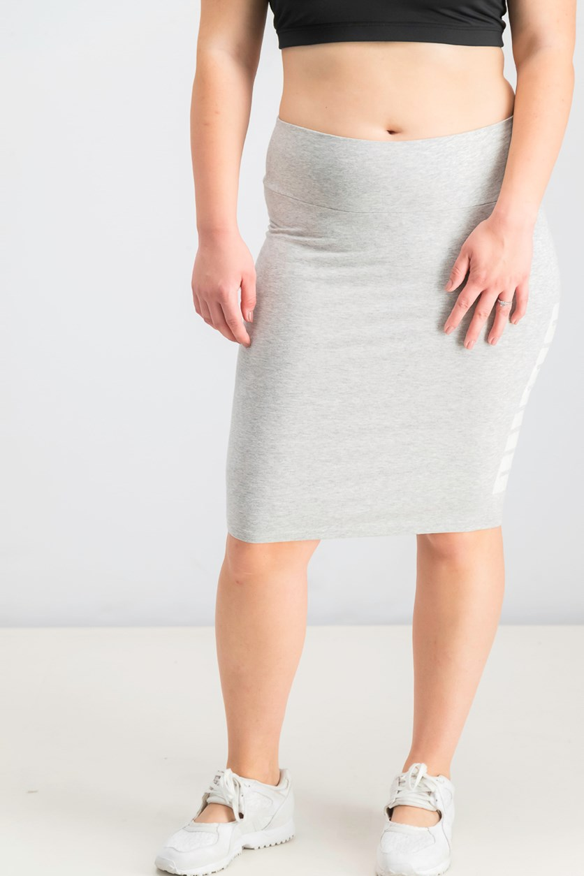 Women's Pencil Skirt, Light Gray