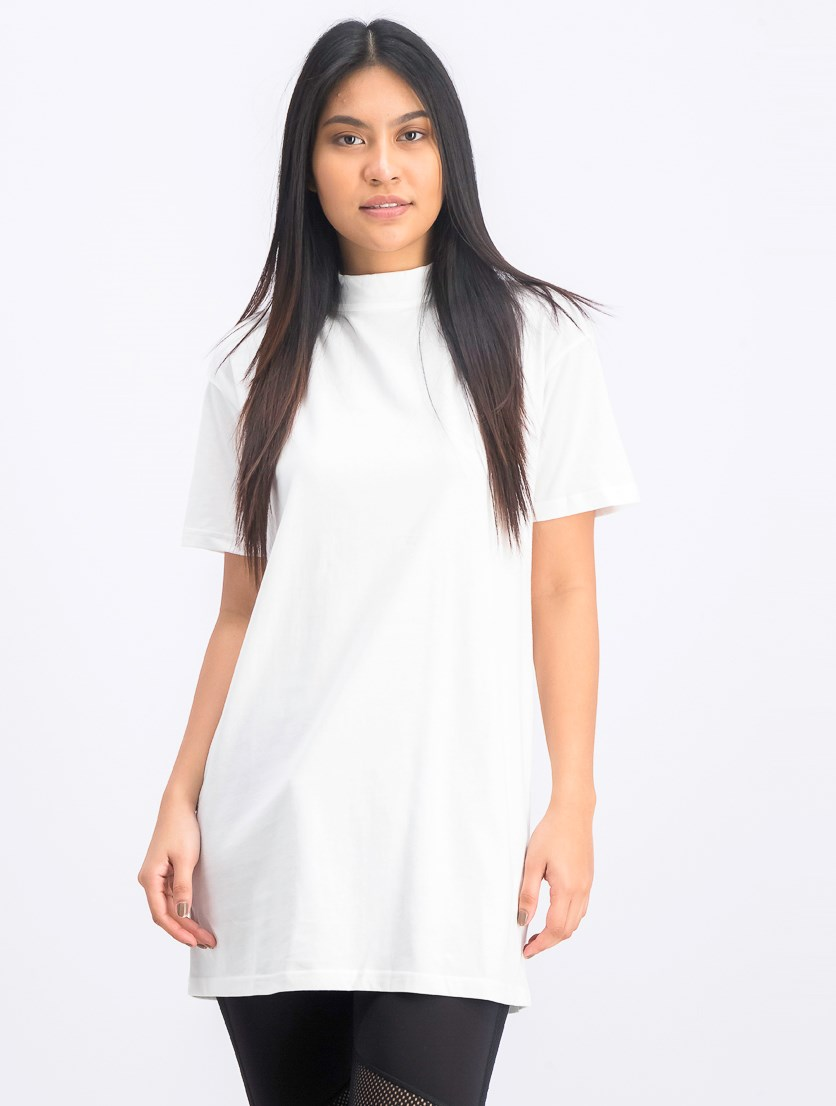 Women's Bow Elongated T-Shirt, White