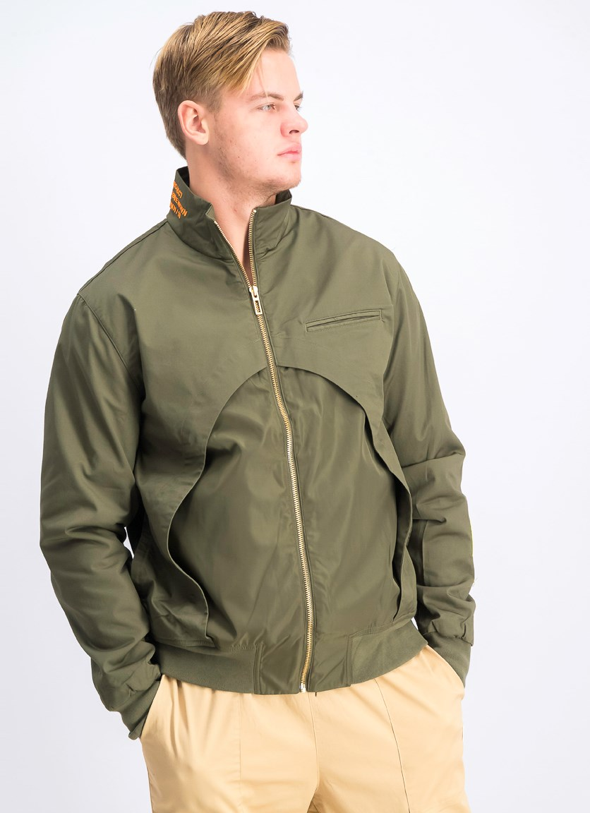 Men's Han Track Jacket, Olive Night