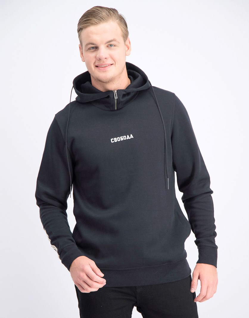Men's Hoodie Jacket, Black