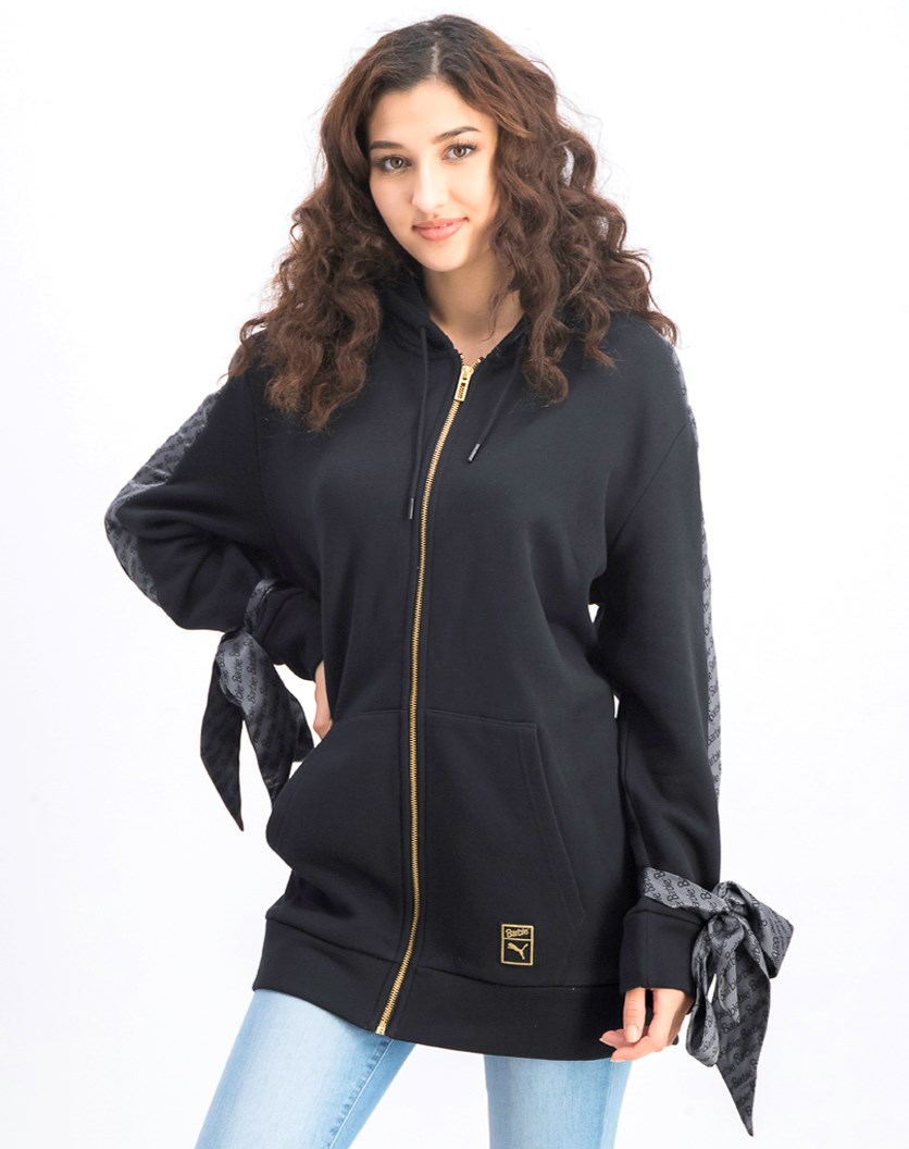 Women's Barbie Zip Up Hoody, Black