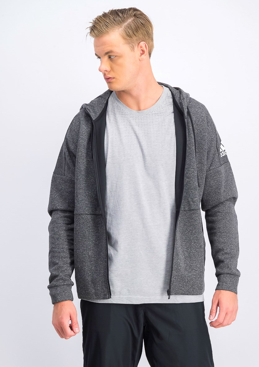 Men's ID Stadium Full-Zip Hoodie, Grey Heather