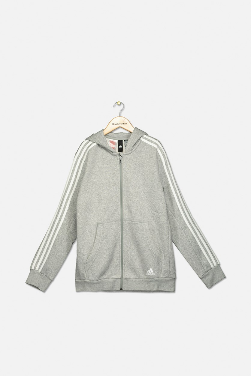 Boy's Fleece Hoodie, Grey