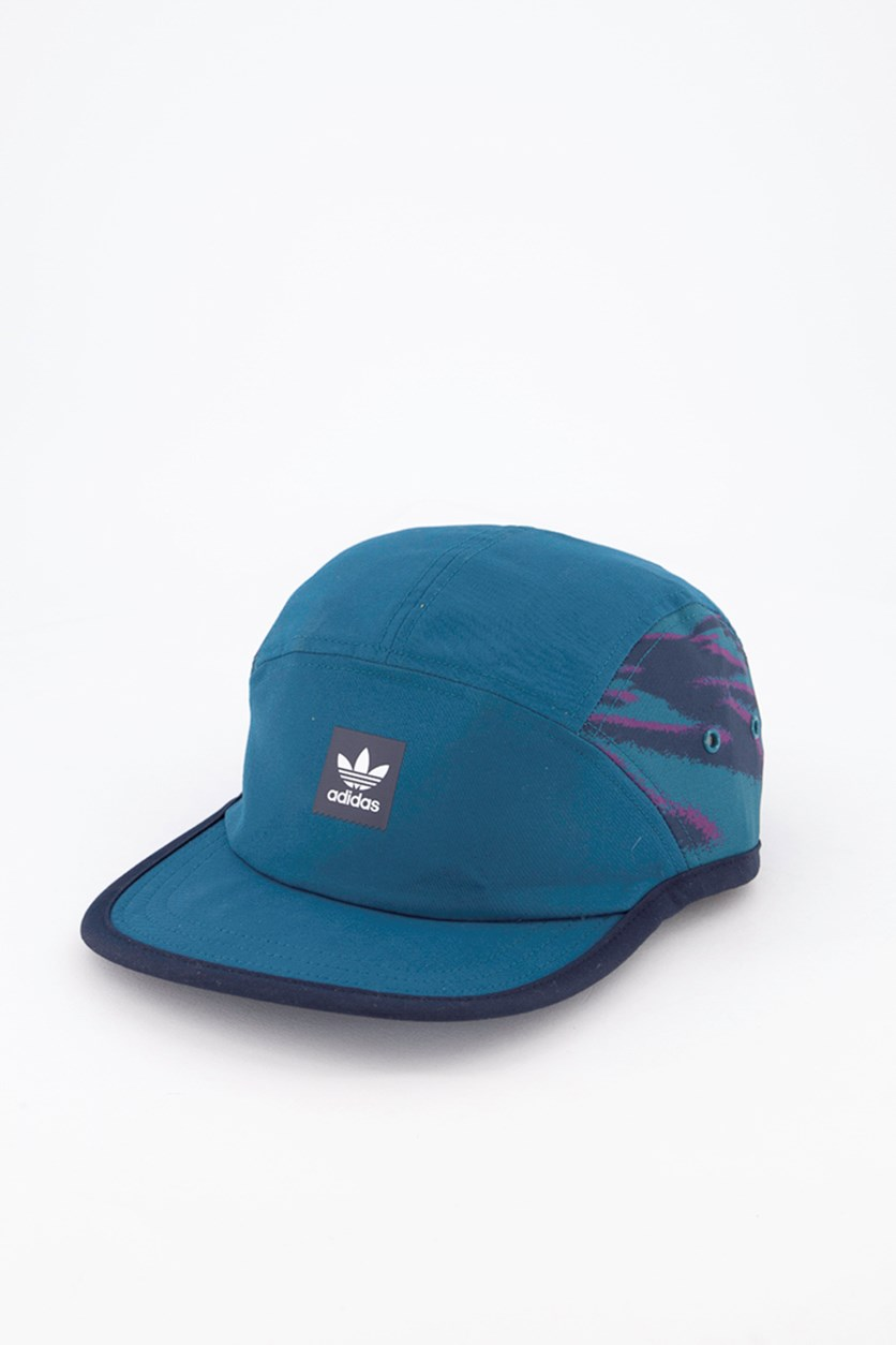 Men's Five-Panel Court Cap, Real Teal