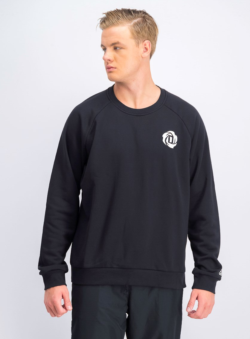 Men's Rose Crew Sweater, Black
