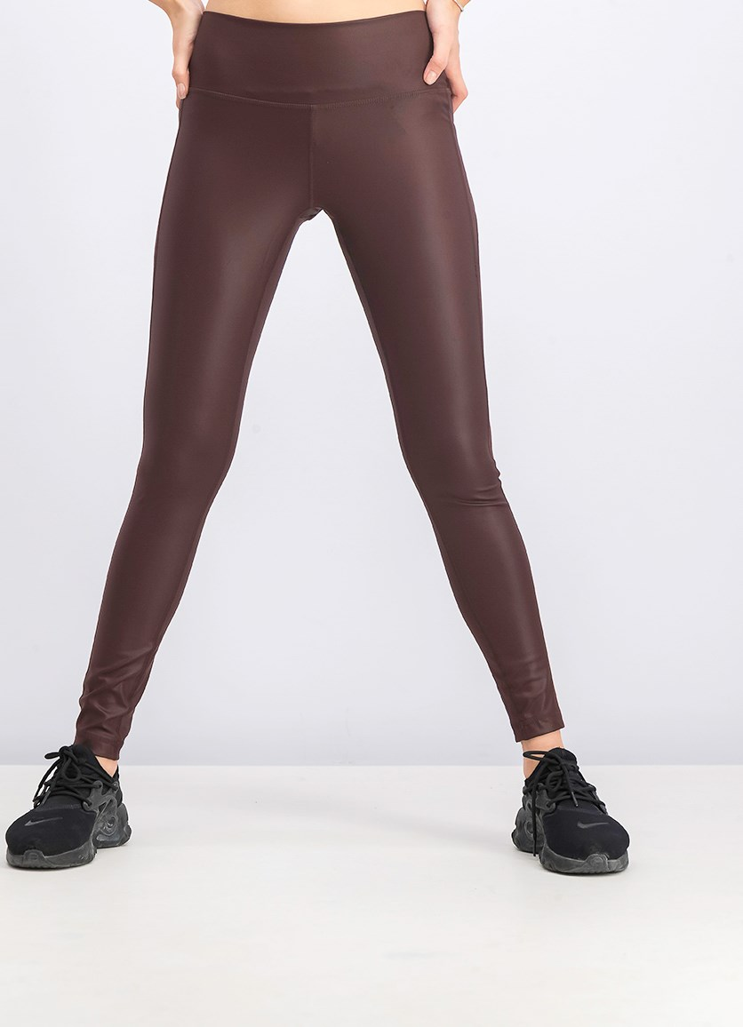Women's Believe This Tights, Burgundy