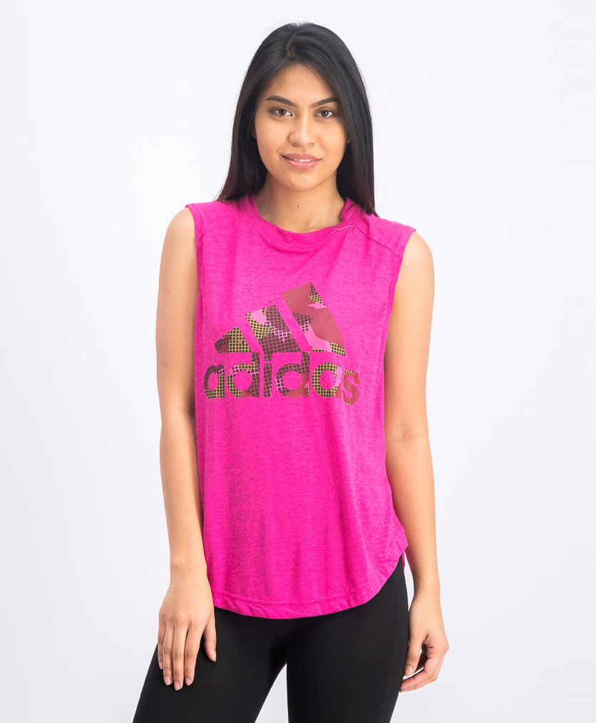 Here to Create Muscle Tee, Fuchsia