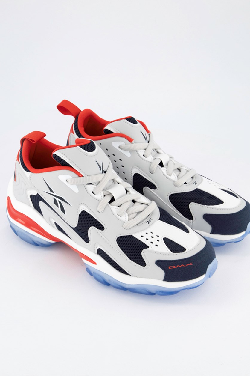 Men's DMX Series 1600 Skull Shoes, Grey/Navy/Red/White