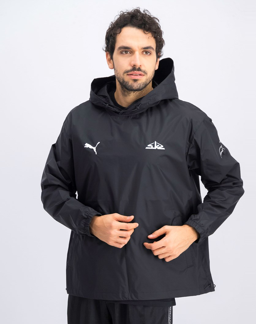 Men's Hooded Wind Breaker Jacket, Black