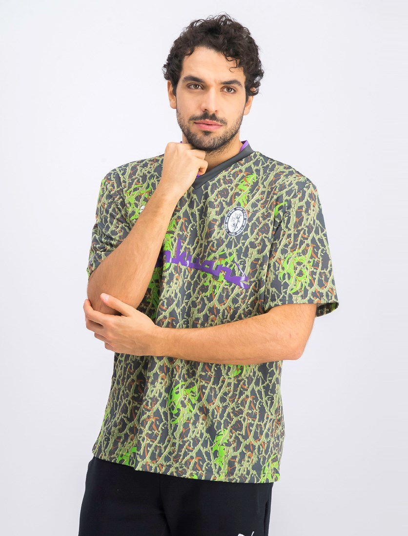 Men's Sankuanz Printed T-Shirt, Fluro Green