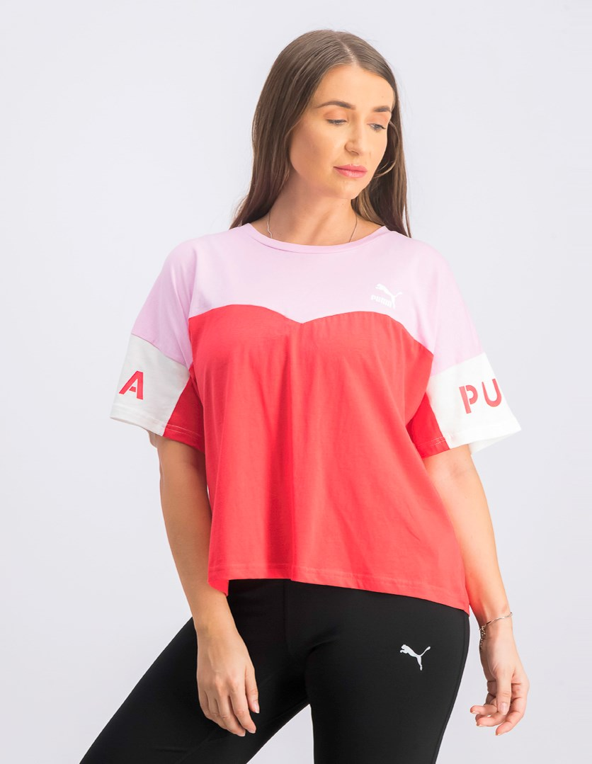 Women's Colorblock Top, Red/Pink