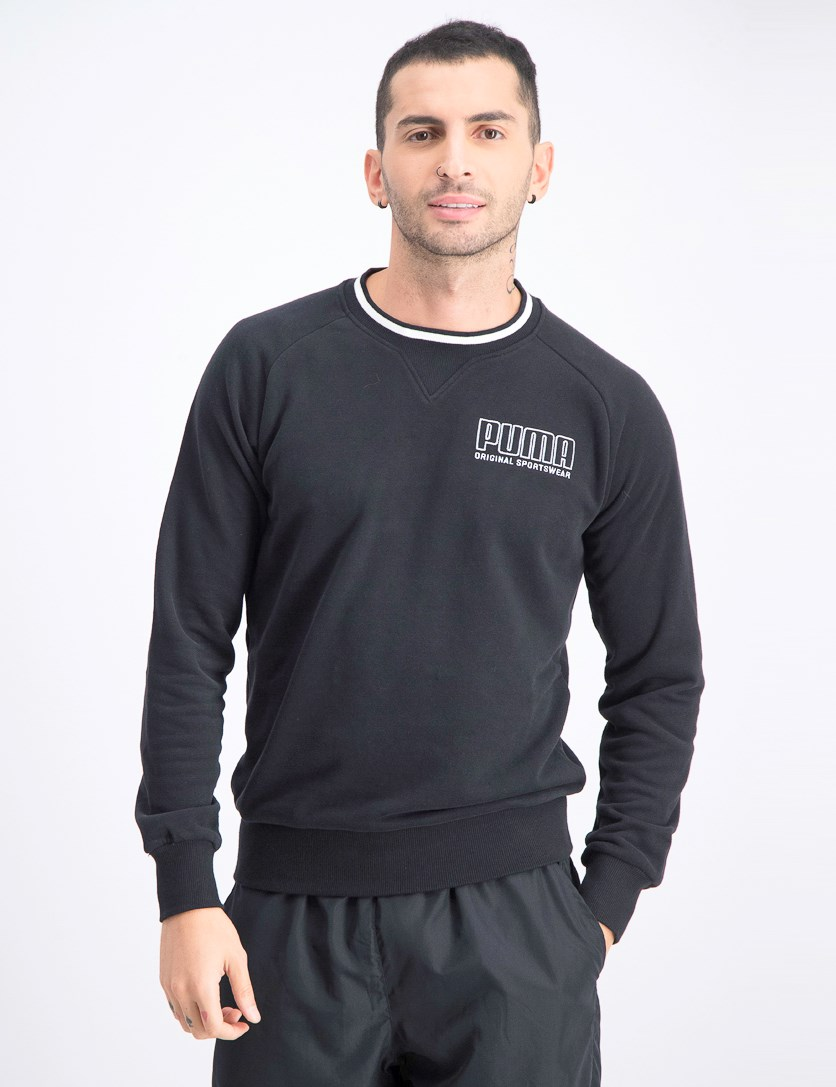 Men's Pullover Sweatshirt, Black