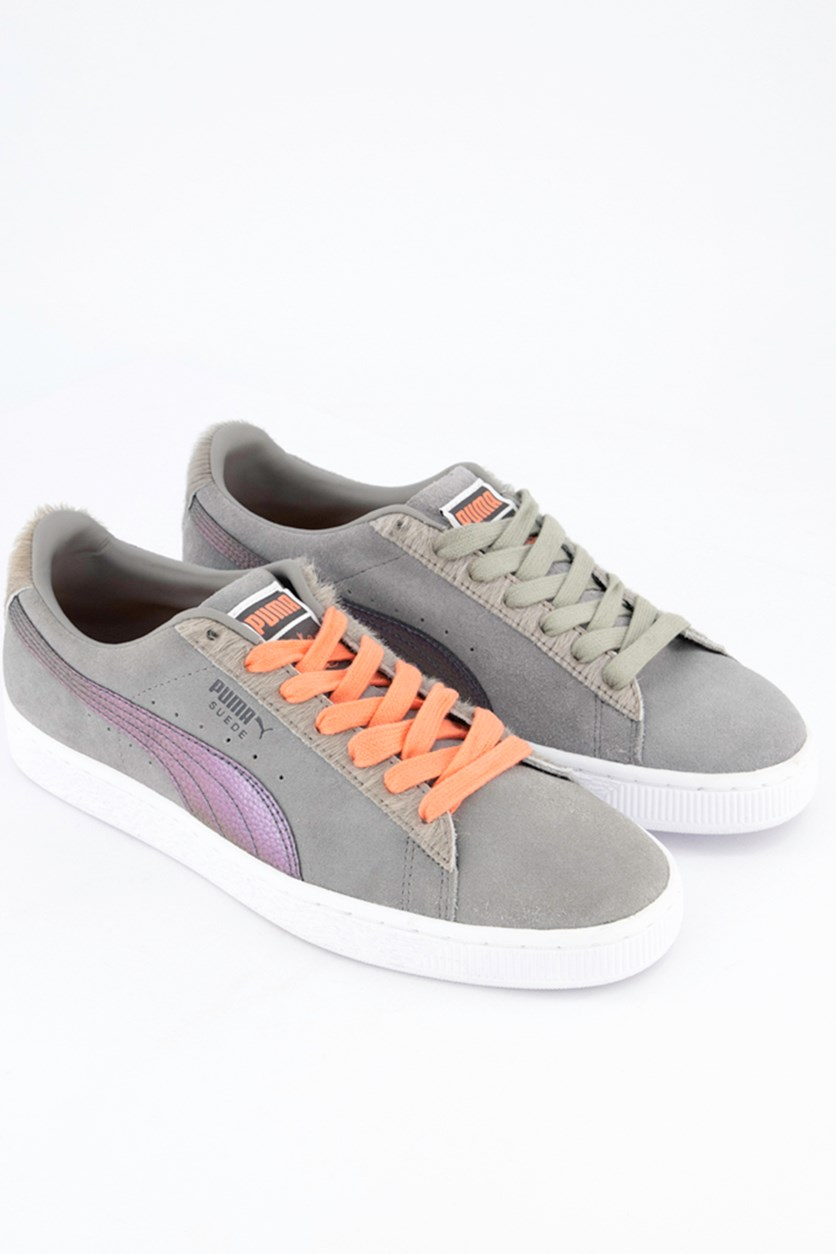 Men's Suede Classic x Pigeon Shoes, Frost Gray/Georgina Peach