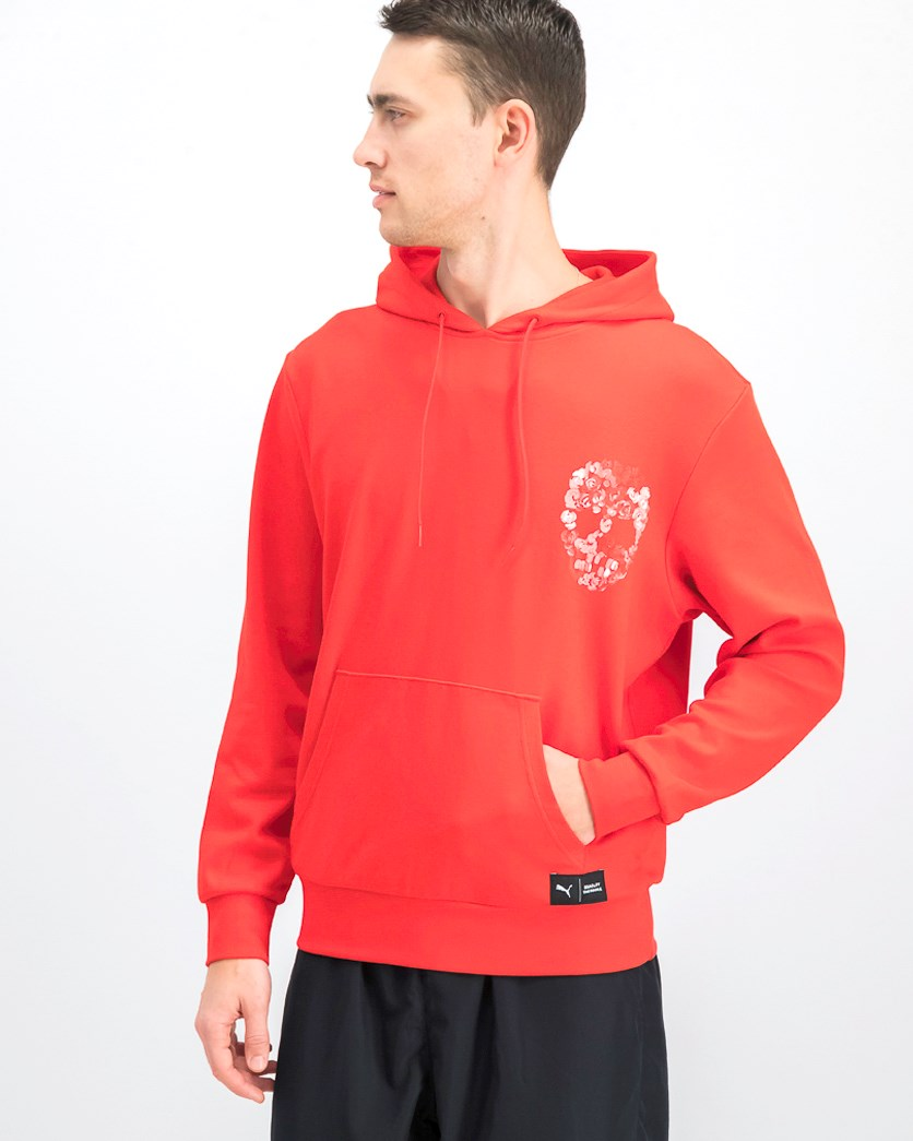Men's Hooded Sweater, Red