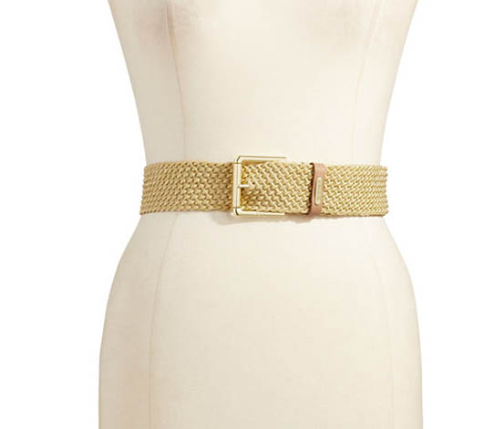 Ralph Lauren Women's Braided Nylon Belt, Gold