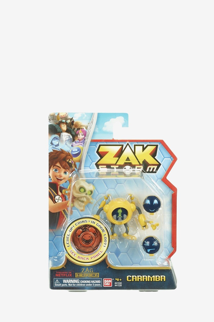 Boy's Zak Storm Caramba Figure with Coin, Yellow Combo