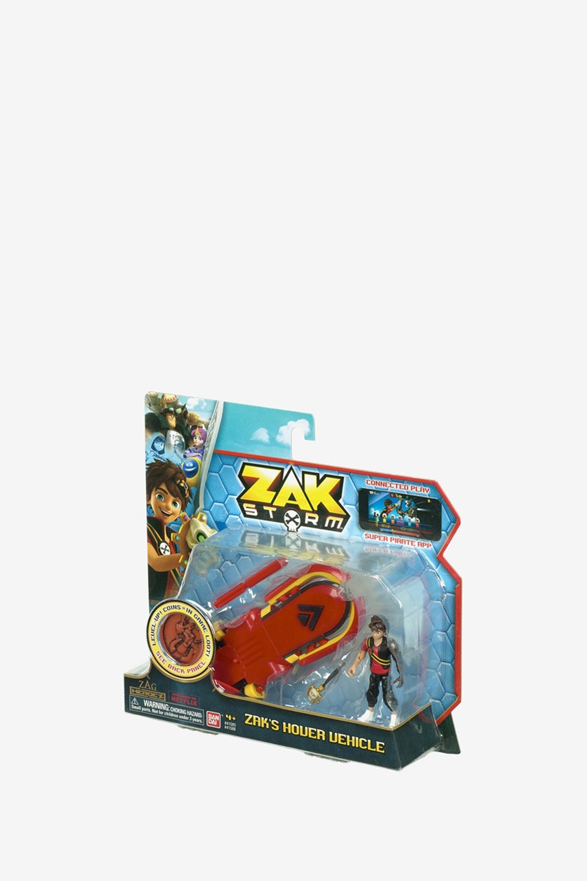Zak Storm Hover Vehicle and Coin, Red/Black
