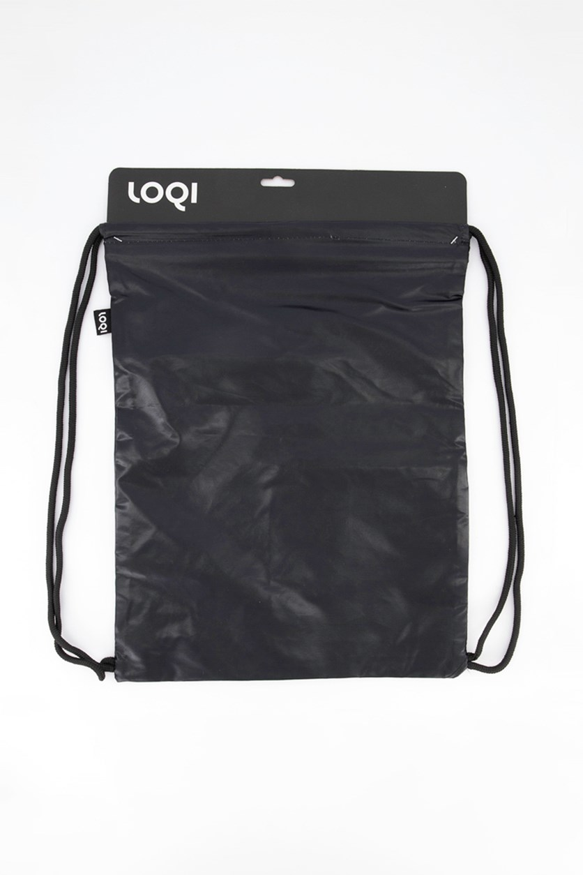 Unisex Metallic Prism Backpack, Black/Metallic