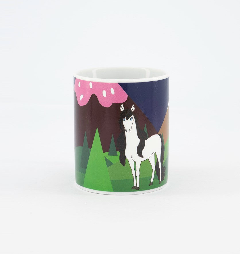 Unicorn Coffee Mug, White Combo