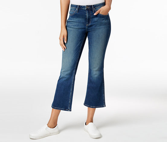 Calvin Klein Cropped Wide-leg Jeans, Blue