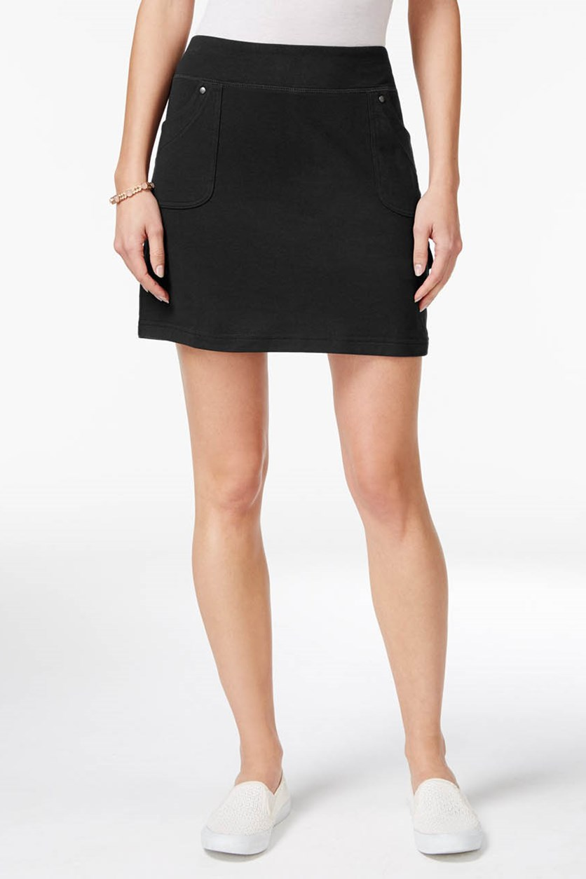 Women's Pull-On Skort, Deep Black