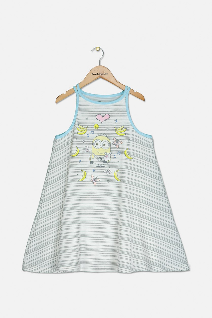 Girls' Tank Dress, Ivory