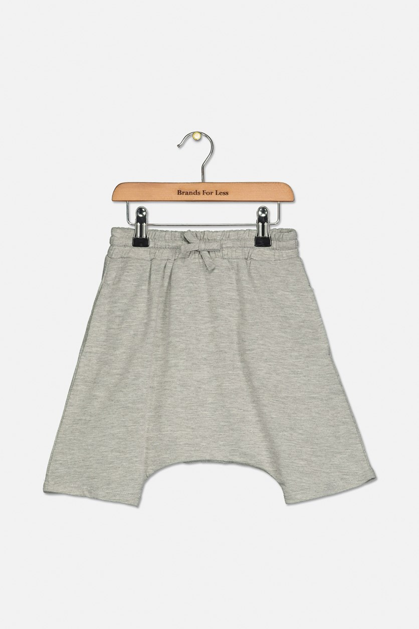 Toddler Boys Slouchy Fit Jogger Shorts, Heather Gray