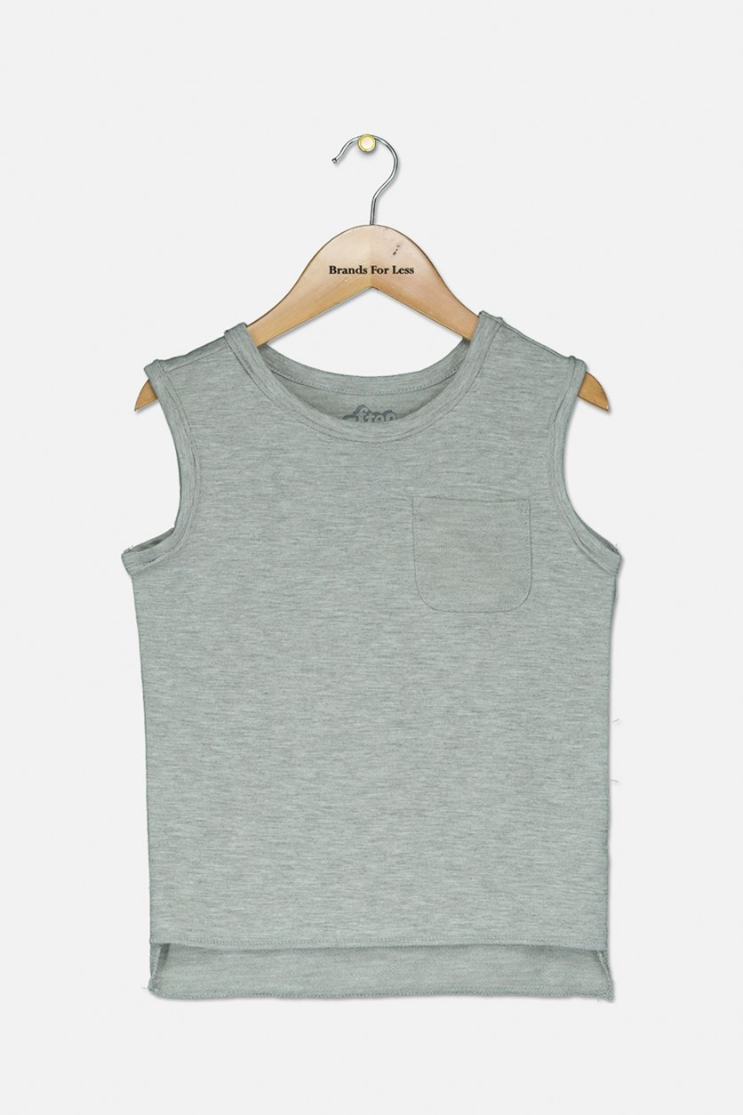Toddler Boys' Sleeveless Muscle Tank Top, Light Gray Heather