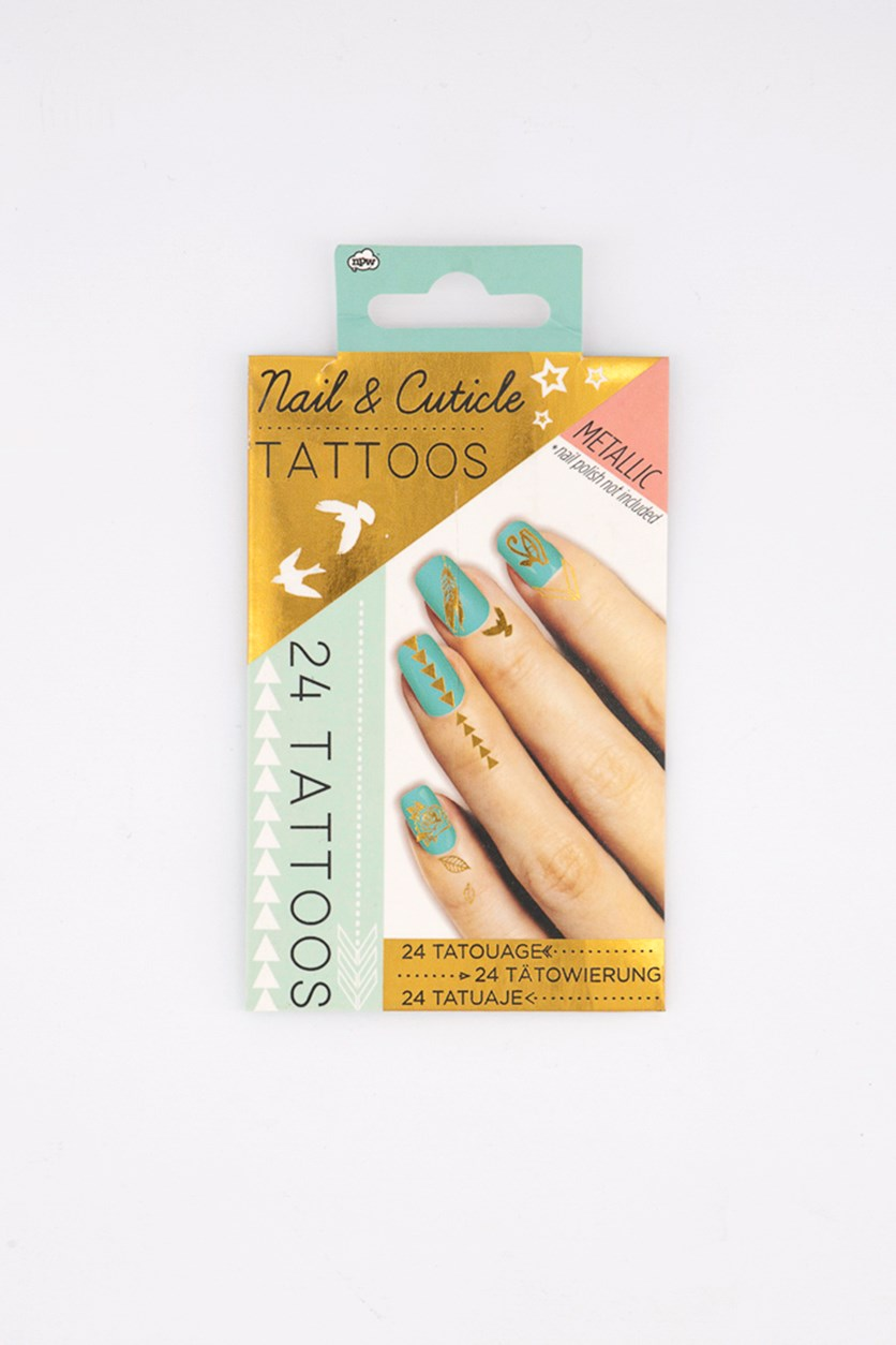 Nail & Cuticle Tattoos, White Combo