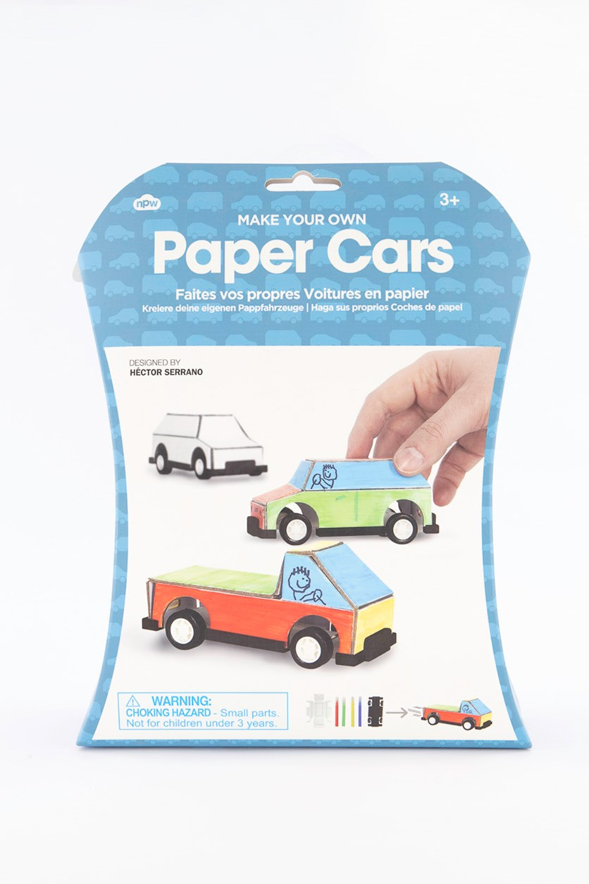 Make Your Own Paper Car, Blue Combo