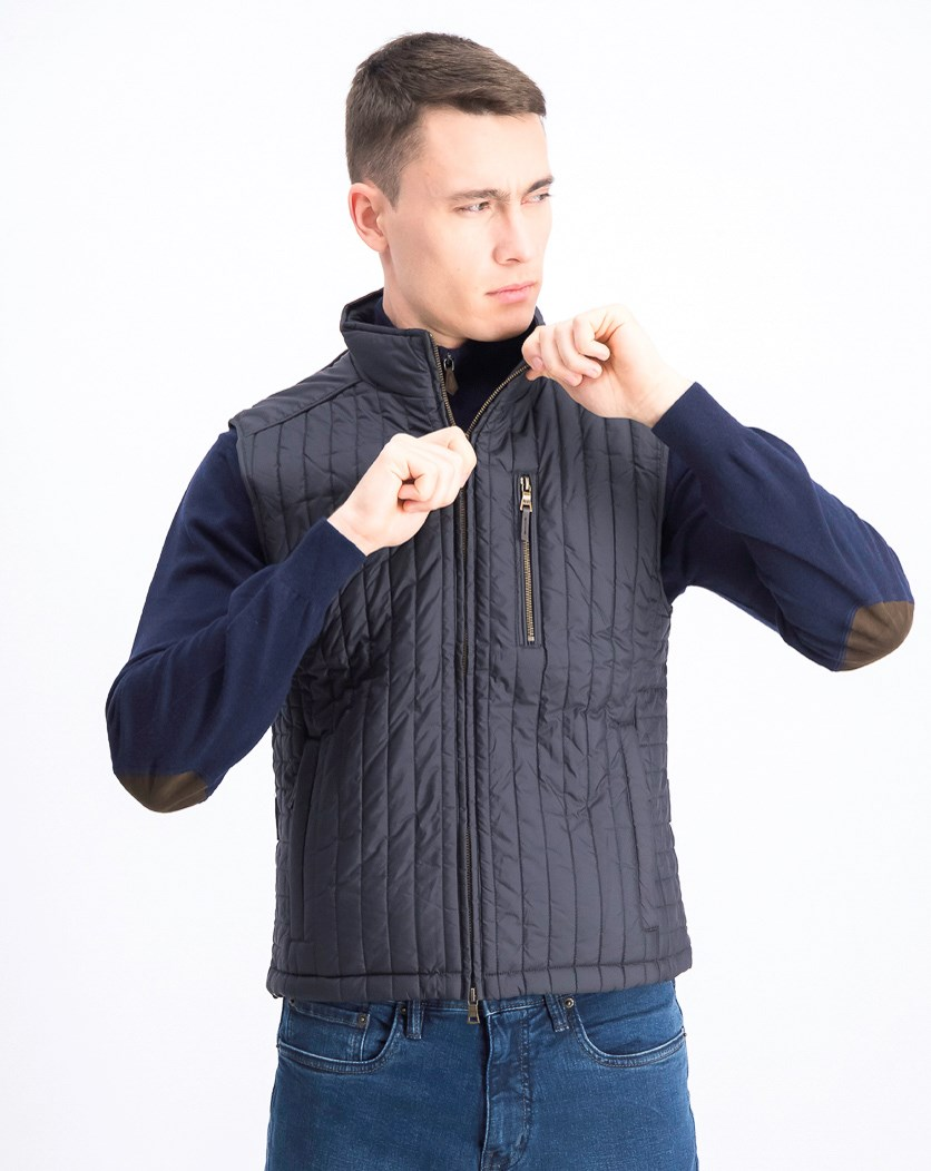 Men's Quilted Jacket, Charcoal