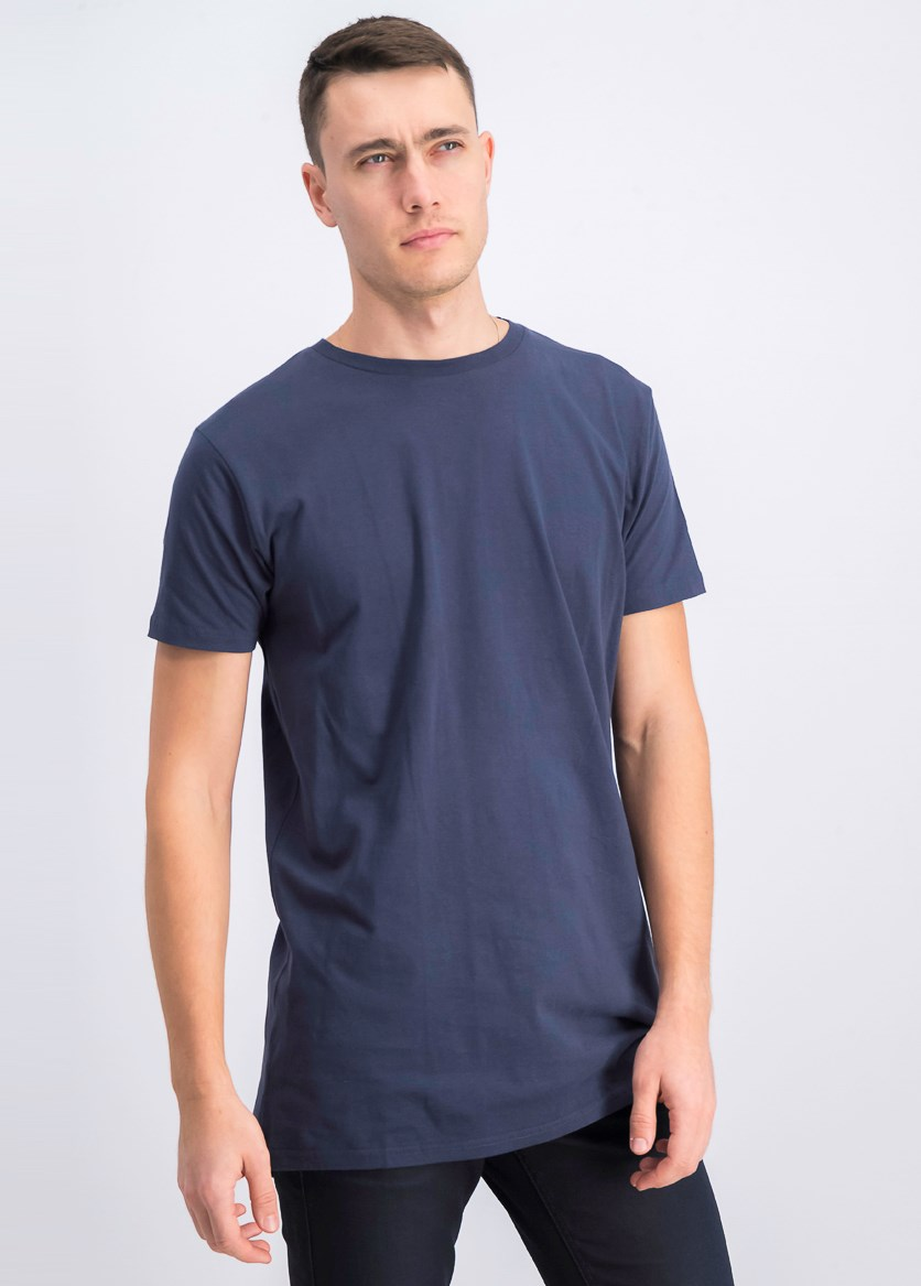 Men's Crew Neck T-Shirt Short-Sleeve, Navy