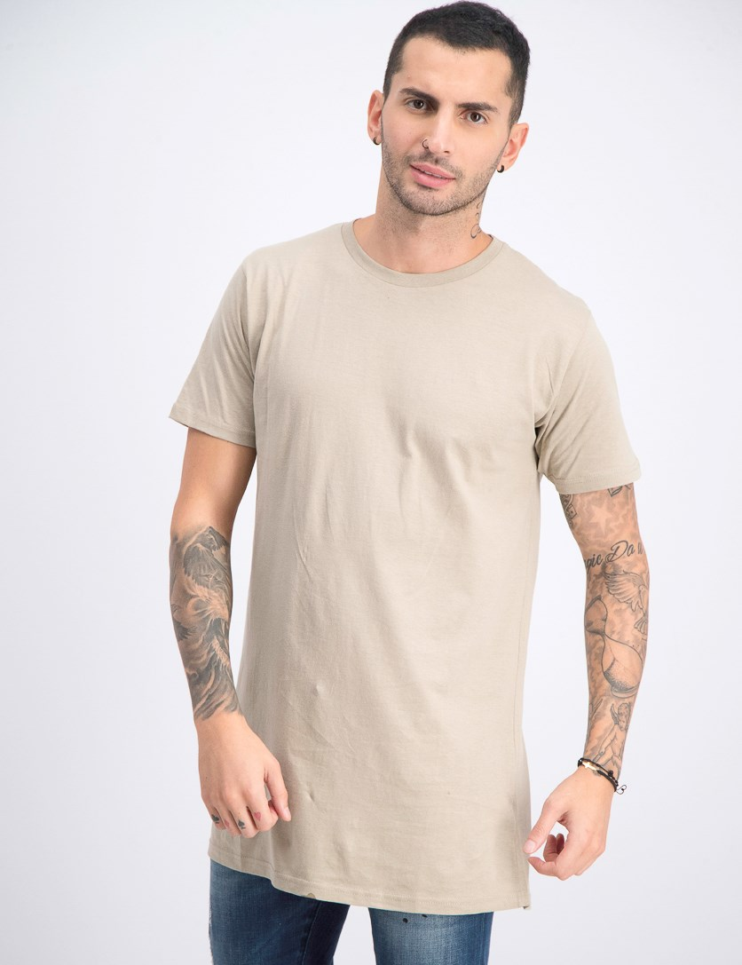 Men's Crew Neck T-Shirt Short-Sleeve, Mushroom