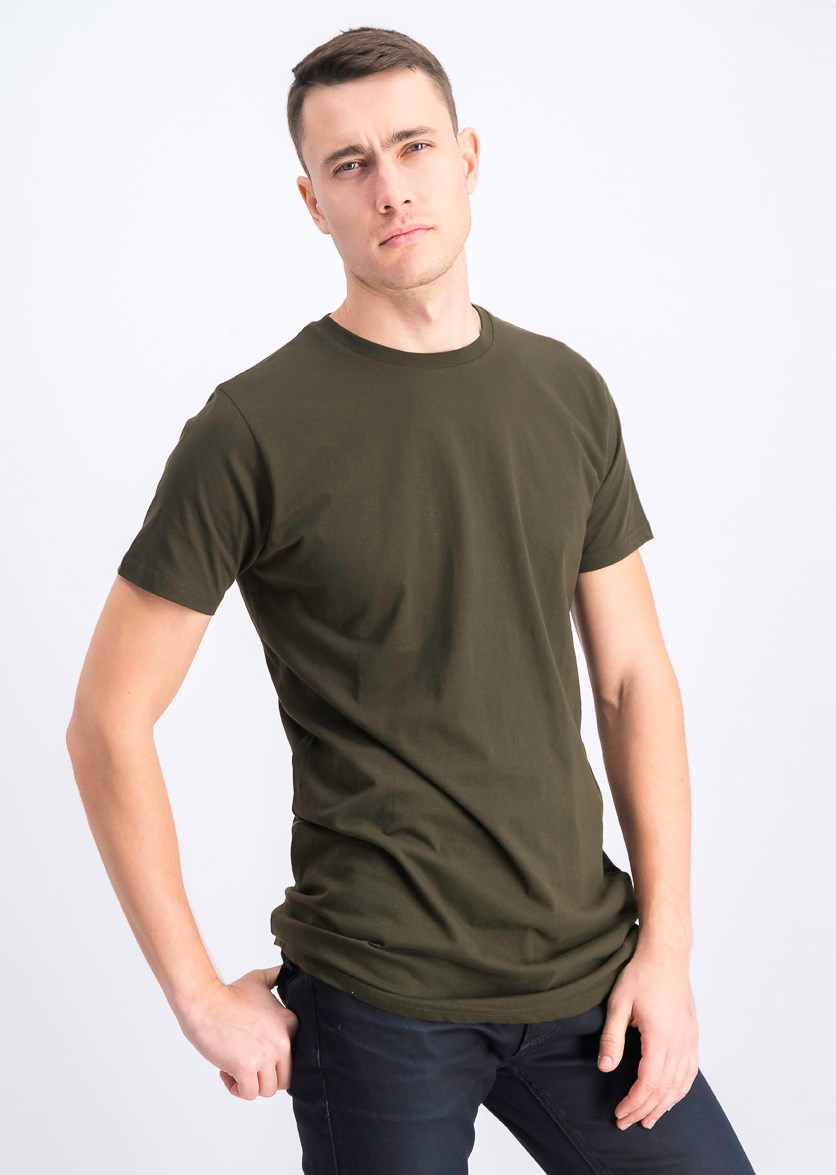 Men's Crew Neck T-Shirt Short-Sleeve, Olive