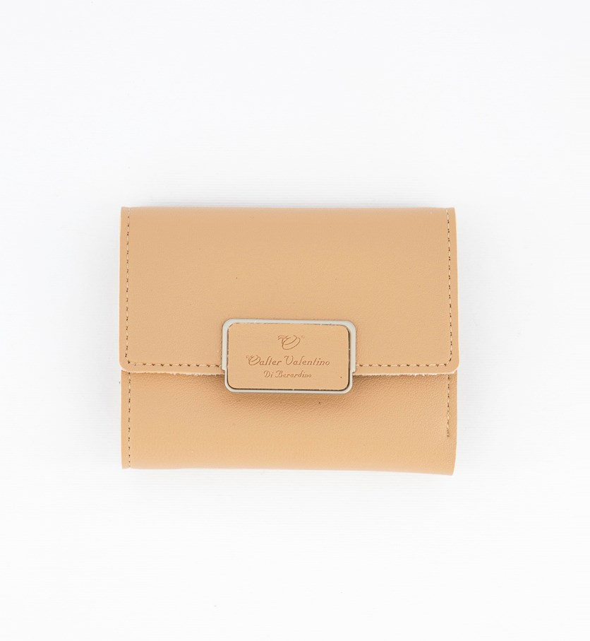 Women's Synthetic Leather Wallet, Beige