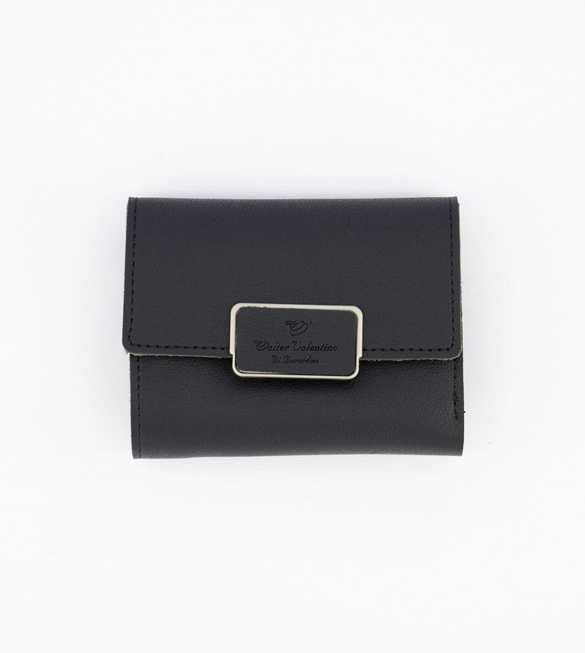Women's Flap Closure Wallet, Black