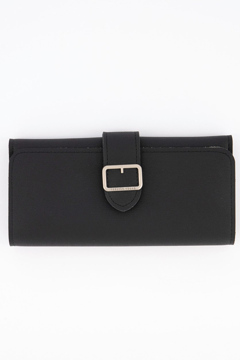 Women's Synthetic Wallet And Purses, Black