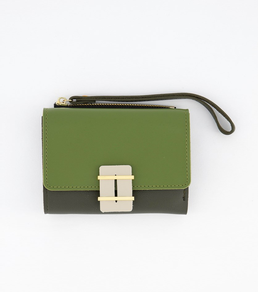 Women's Synthetic Leather Wallet, Green