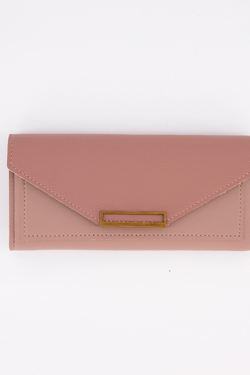 Women's Synthetic Leather Wallet, Pink